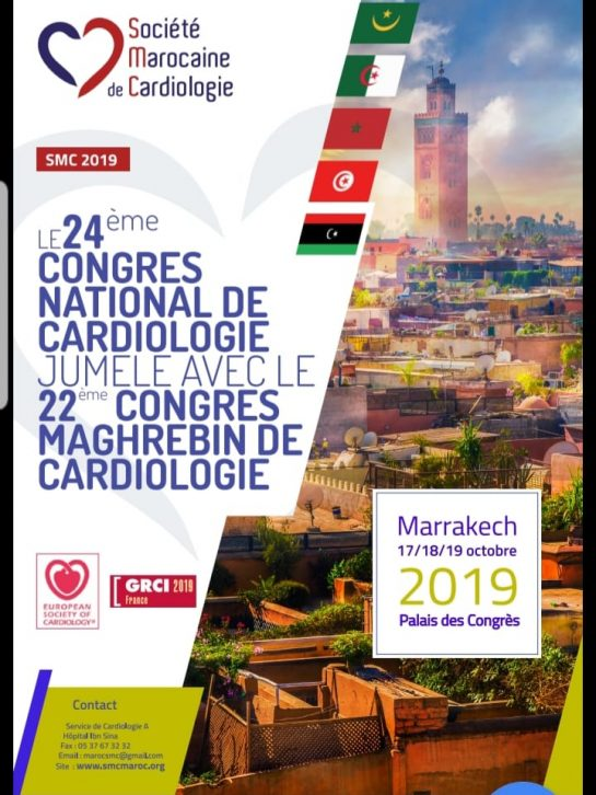 24ème Congrès National de Cardiologie jumelé avec le 22ème Congrès Maghrébin de Cardiologie