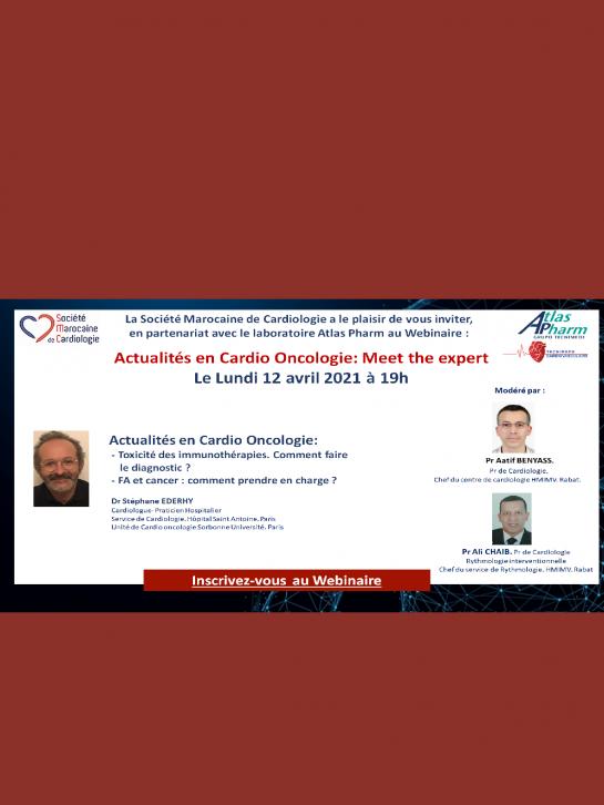 Actualités en Cardio Oncologie: Meet the expert